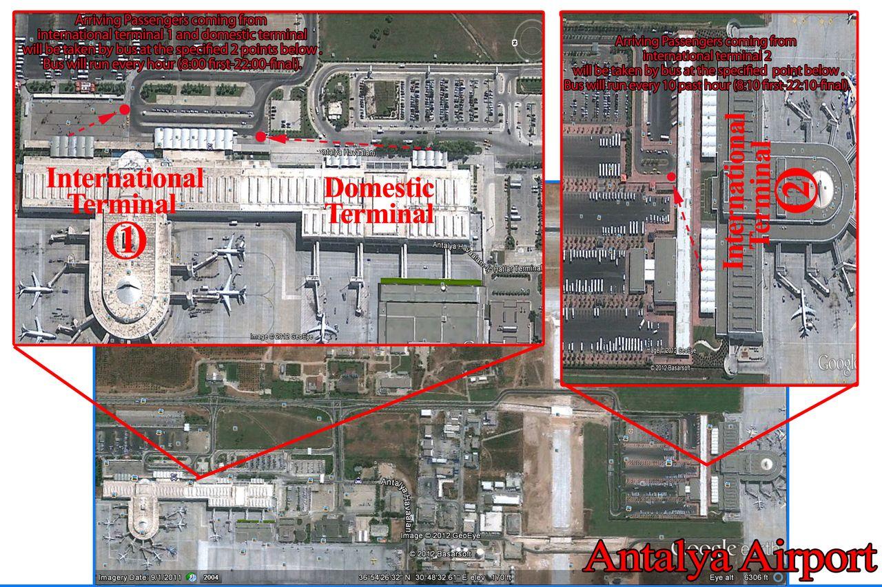 Схема аэропорта анталия