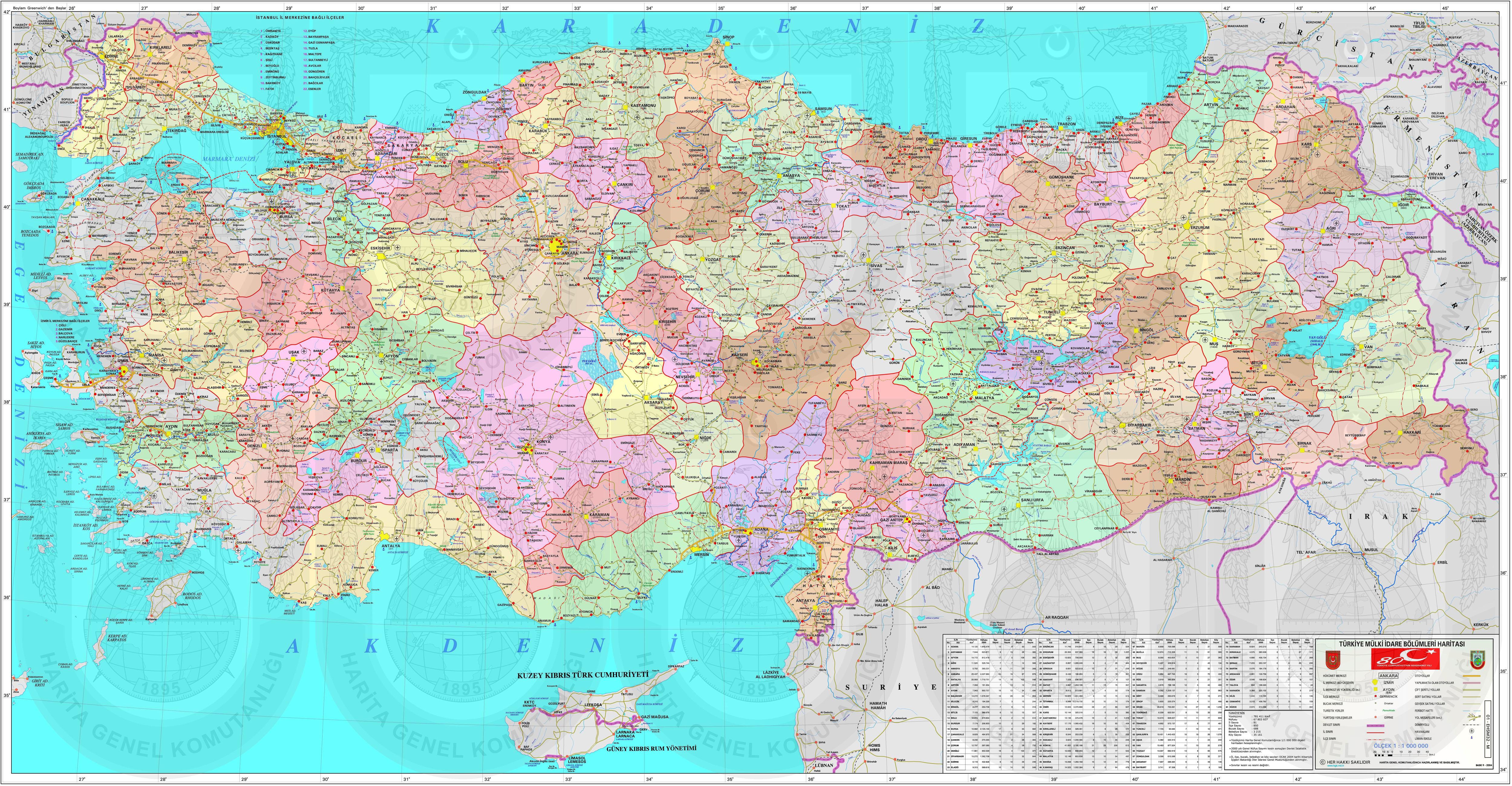 Podrobnaya Administrativnaya Karta Turcii S Regionami Na Russkom Yazyke