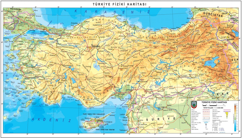 Fizicheskaya Karta Turcii Karta Gor Turcii Na Russkom Yazyke