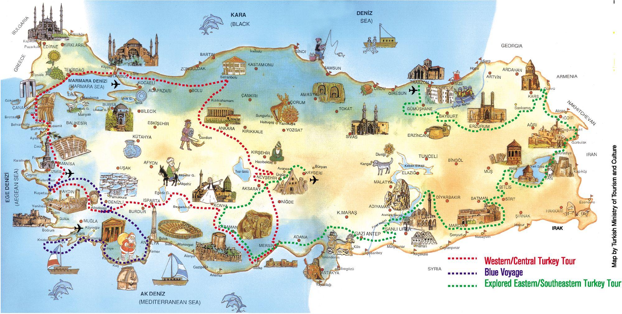 достопримечательности Турции с фото, на карте