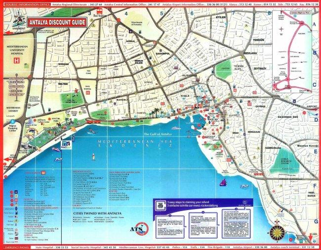 Карта города Анталия