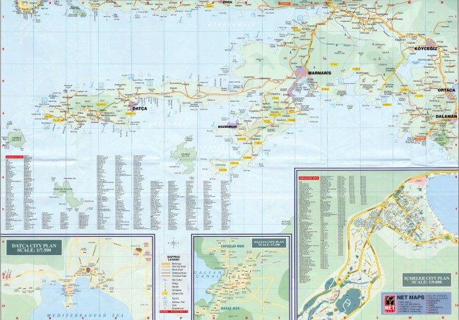 Карта Мармариса с курортами