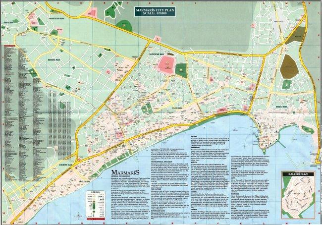 Туристическая карта Мармариса