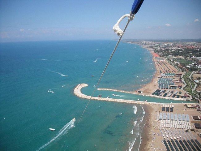 Вид на Кумкой и Чонаклы с парашюта