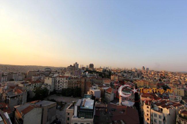 Вид с Галатской Башни на закате