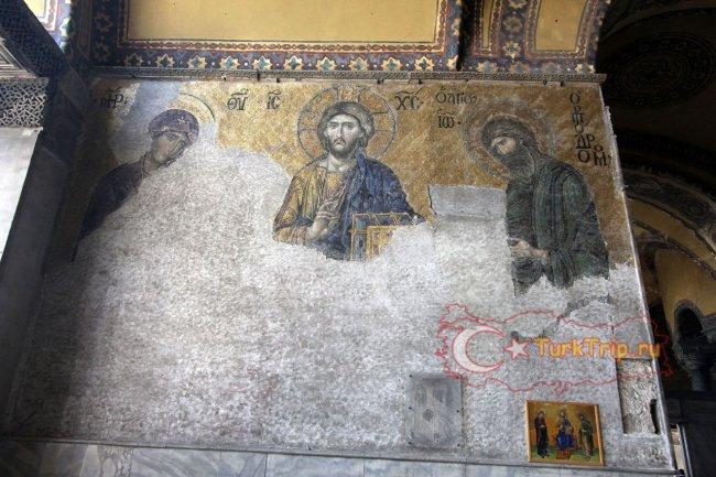 Мозаичные фрески в Соборе Святой Софии