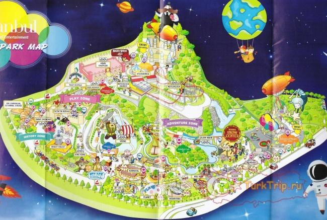 Карта парка Isfanbul