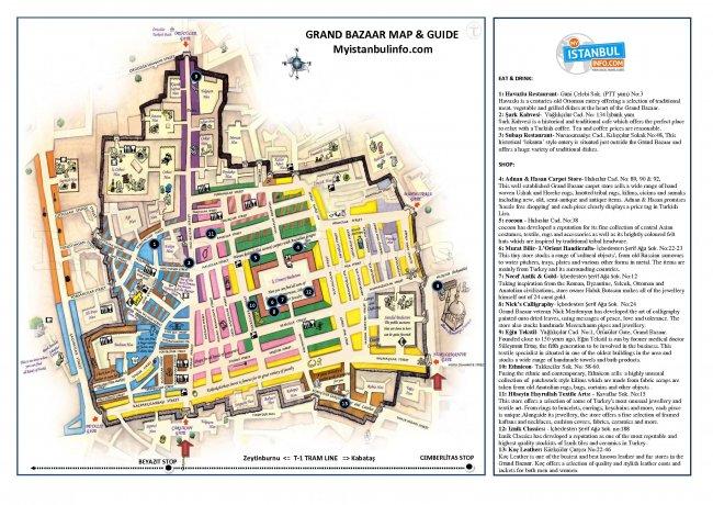 Карта Гранд Базара
