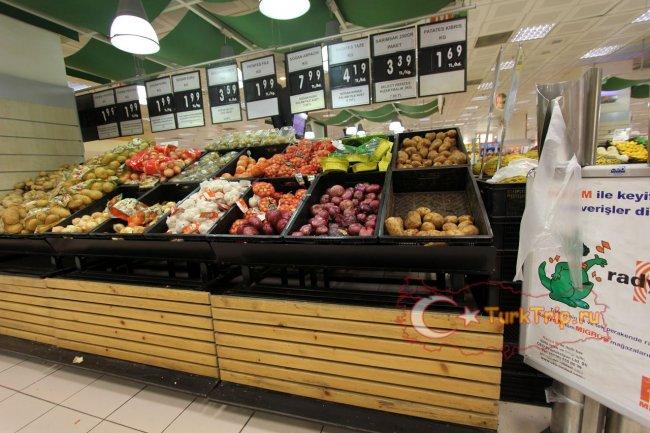 Овощи в супермаркете Джевахира