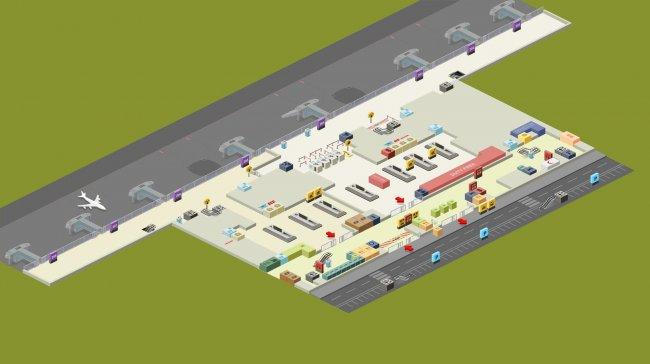 План-схема зоны прилета аэропорта Сабиха