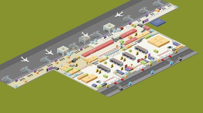 План-схема зоны вылета аэропорта Сабиха