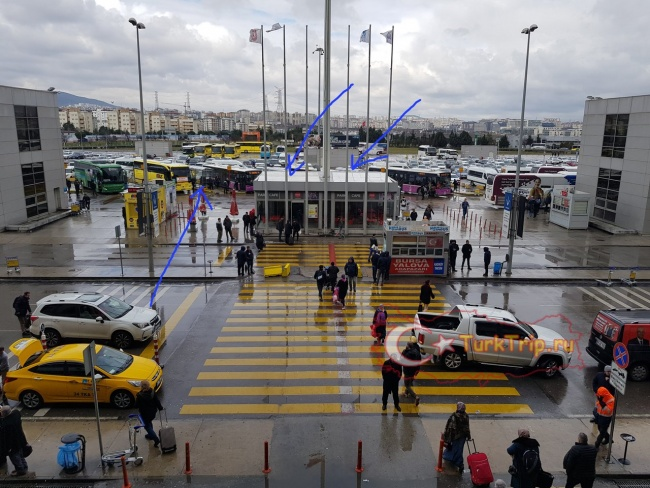 Транспорт в аэропорту имени Сабихи Гёкчен