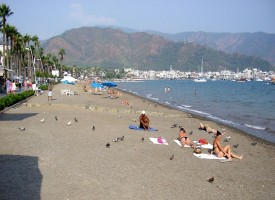 Пляж Мармариса в августе