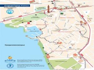 Карта Старого города Анталия
