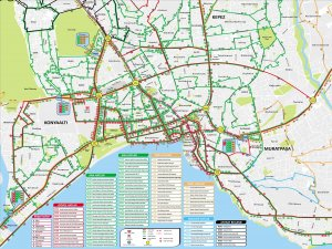 Карта транспорта Анталии