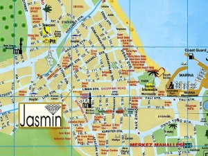 Карта центра города Кемер