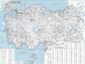 Географическая карта Турции