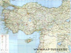 Карта дорог Турции