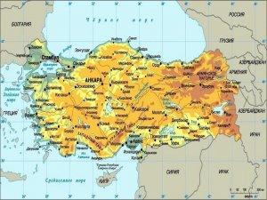 Карта с городами Турции