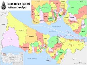 Карта районов Стамбула на русском языке