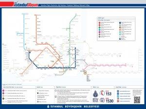 Схема маршрутов трамваев в Стамбуле