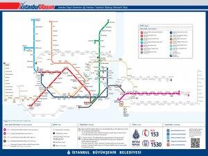 Карта транспорта Стамбула
