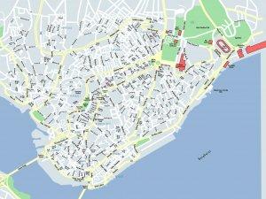 Карта района Бейоглу