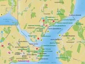 Туристическая карта Стамбула на русском языке