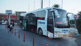 Автобус Хаваш на остановке у ТЦ Мигрос 5М