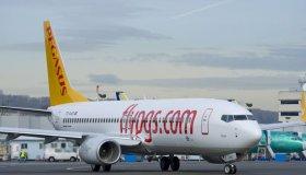 Самолет авиакомпании Pegasus Airlines