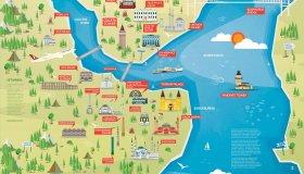 Карта достопримечательностей Стамбула