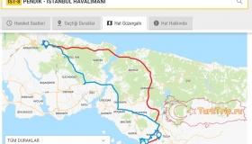 Маршрут автобуса между аэропортом Стамбул и аэропортом Сабиха